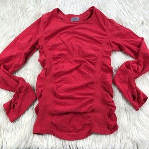 Athleta Breathe Long Sleeve Fitted Athletic Top